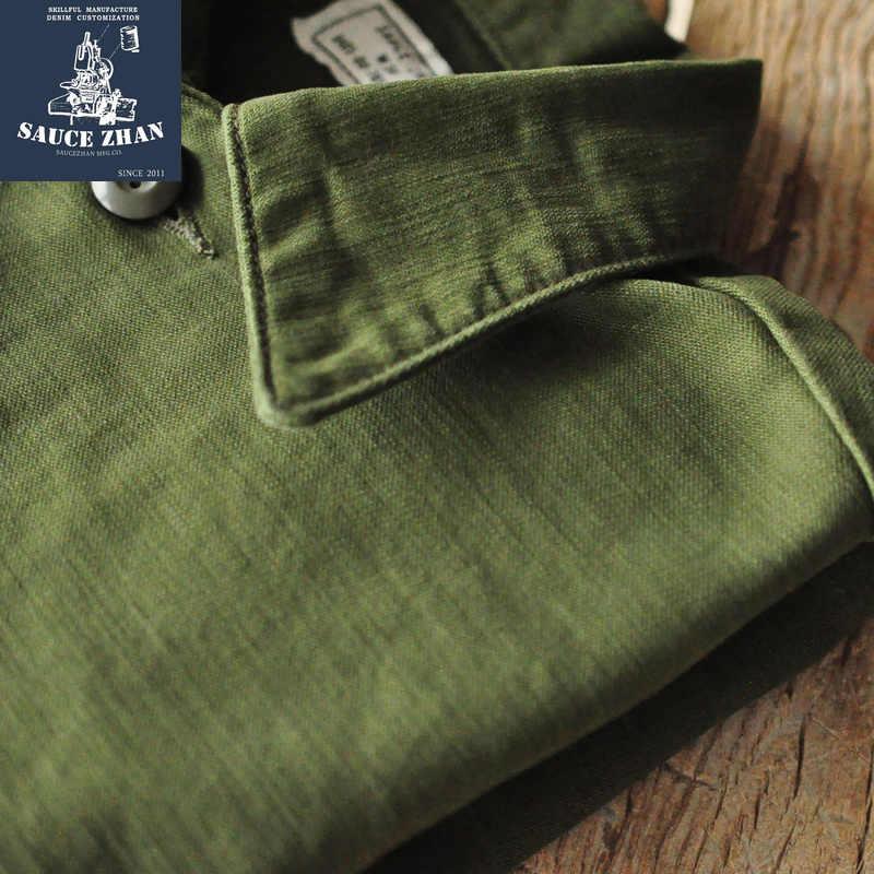 Saucezhan Og-107 Utility Fatica Camicia Original Vintage Camicia di Cotone Degli Uomini Della Camicia Camicia a Maniche Lunghe Mens Camicie Eleganti Shirt Vintage