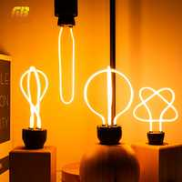 Retro LED Edison Light Bulb E27 220V Soft Filament Lamp Ampoule Lighting Incandescent Bulb Industrial Decoration For Bar Cafe