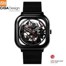 Dla Xiaomi CIGA projekt wydrążony automatyczny zegarek mechaniczny biznes mężczyźni Wrist Watch Reddot 2019 nowy self wiatr zegarki na rękę