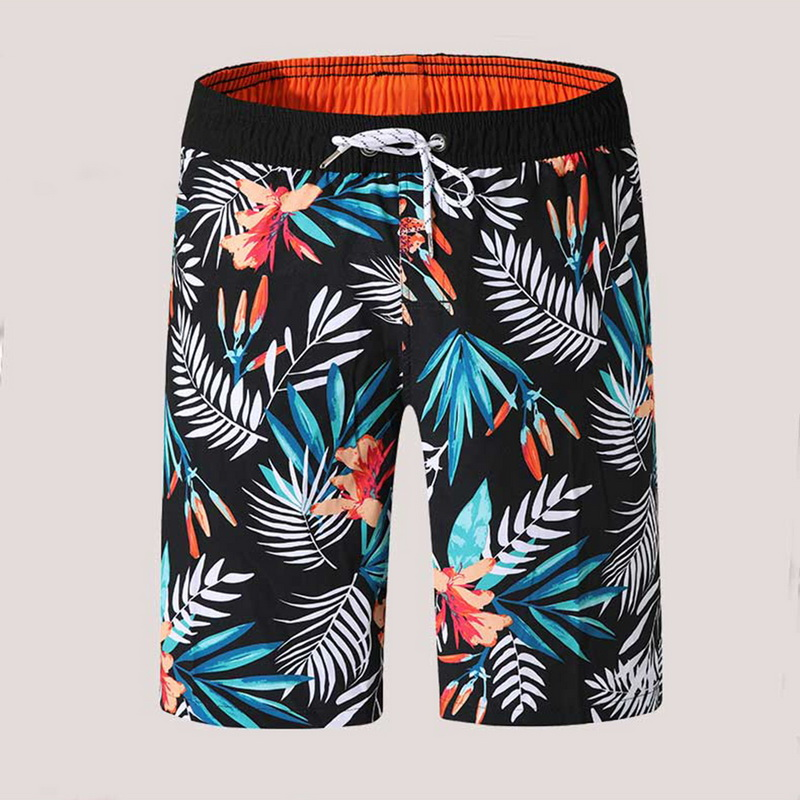 Men's Shorts Drawstring Beachwear Cool Board Print Shorts Quick Dry Watersport Swim Trunks Summer Beach Shorts Lining Shorts