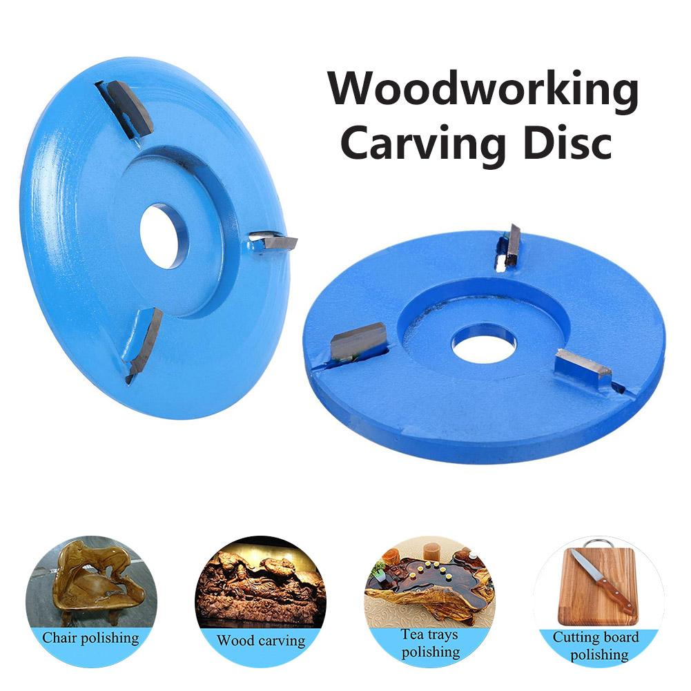 Blue Power Wood Carving Disc Angle Grinder Woodworking Turbo Plane For 16mm Aperture Angle Grinder Attachment Milling Cutter