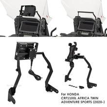 Motosiklet ön telefon standı tutucu telefon GPS navigasyon için plaka braketi HONDA CRF1100L afrika e n e n e n e n e n e n e n e n e n e macera spor 2020-