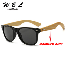 WarBLade Classic Vintage Wood Sunglasses Men Women Mirrored Reflective Lens Wooden Sun