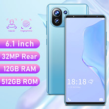 2021 New Global Version M11 Smartphone 6.1Inch 12+512GB Dual SIM Dual Standby Support Face ID 5200mAh 4G 5G Android CellPhone