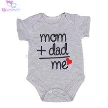 Летний детский комбинезон для новорожденных, одежда спортивный костюм для мальчиков и девочек, хлопковая одежда с короткими рукавами и надписью Одежда для младенцев подарки для детей от 0 до 18 месяцев