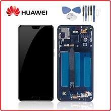 """Huawei Ban Đầu Năm 5.8 """"P20 Màn Hình Hiển Thị LCD Bộ Số Hóa Màn Hình Cảm Ứng Cho Huawei P20 Màn Hình Hiển Thị Có Khung EML L29 EML L22 EML L09 EML AL00"""