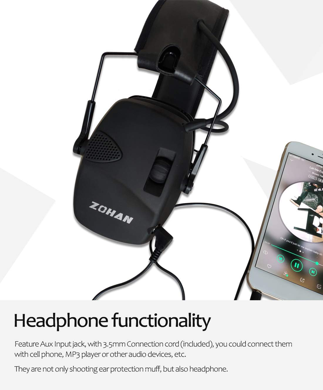 H21af471ea3fc43f8b74be43626d3ec227 - หูฟังลดเสียง ป้องกันหู ที่ปิดหู ลดเสียงดังที่ได้ยิน ลดการได้ยินเสียง NRR22dB Professional