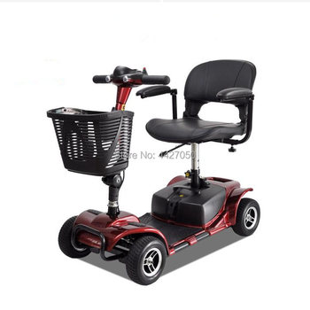 Old scooter four-wheel electric vehicle lithium battery folding wheelchair