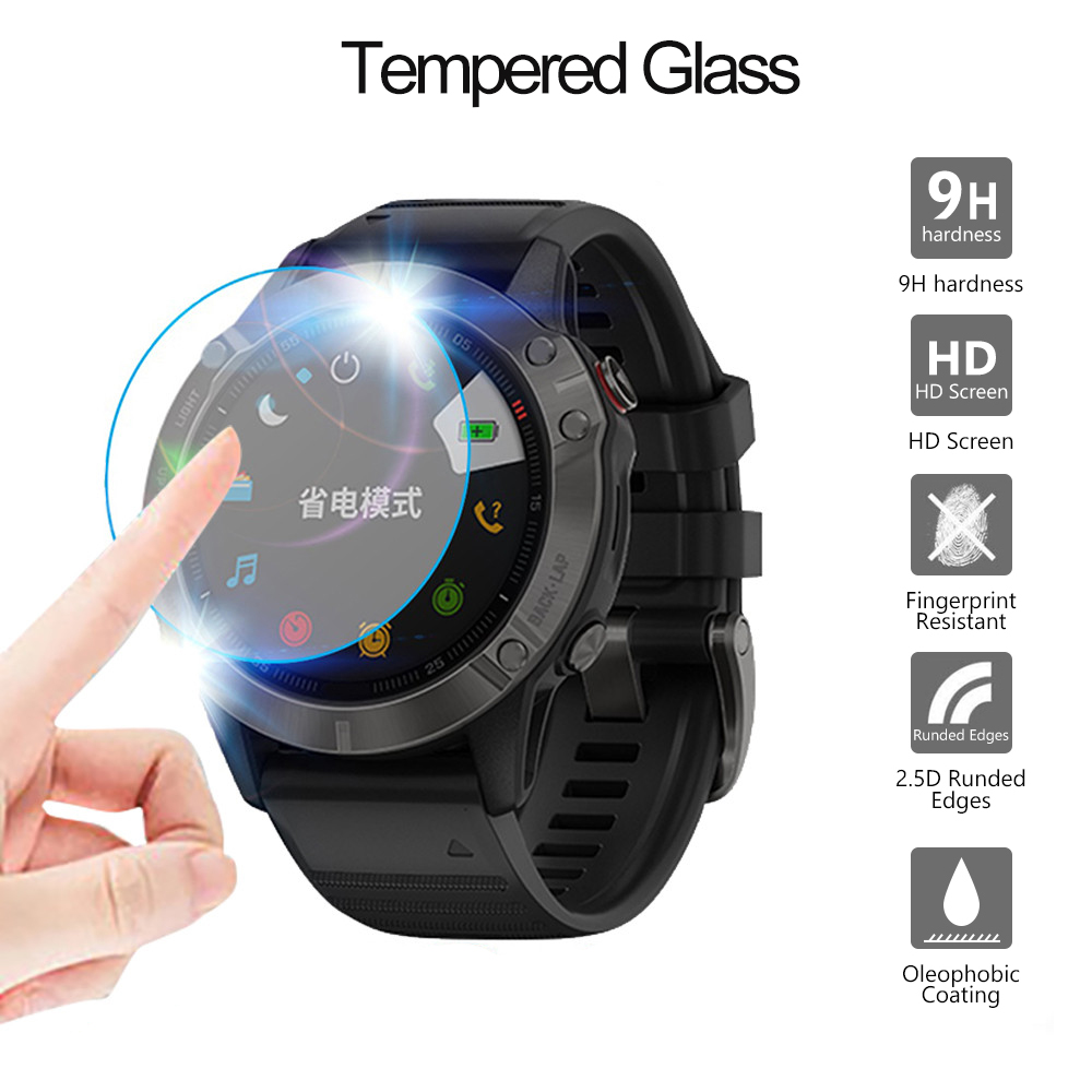 Protective Film For Garmin Fenix 5 5s Plus 6S 6X 6 Pro Ultra Clear Tempered Glass Film Guard Premium Screen Protector Watch Film