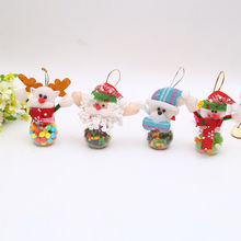 2pcs Children kids christmas gift bag candy jar storage bottle santa claus and box