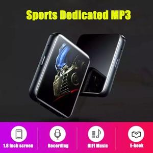 Image 3 - מיני ספורט נייד Bluetooth 5.0 MP3 נגן מתכת חזרה קליפ 1.8 אינץ HD מסך built רמקול באיכות גבוהה מוסיקה באיכות