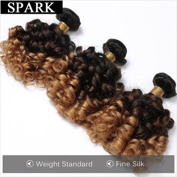 Spark Human Hair Ombre Malaysian Loose Bouncy Curly Hair Weave Bundles 100 Human Hair Extension 10