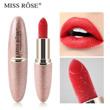 waterproof diamond glitter lipstick sparky shiny pigment Long Lasting Natural Moisturizer batom red lipstick 12 colors New