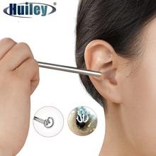 Cyfrowe wideo patyczek do uszu oświetlone ucho Curette usuwanie woskowiny otoskop kamera endoskopowa Earpick narzędzie do czyszczenia uszu narzędzie do pielęgnacji uszu tanie tanio HUILEY 500X i Pod MY004 Metal PORTABLE Wysokiej Rozdzielczości Handheld Cyfrowy Mikroskop wideo Monokularowy 640x480 5 4 mm x 145 mm
