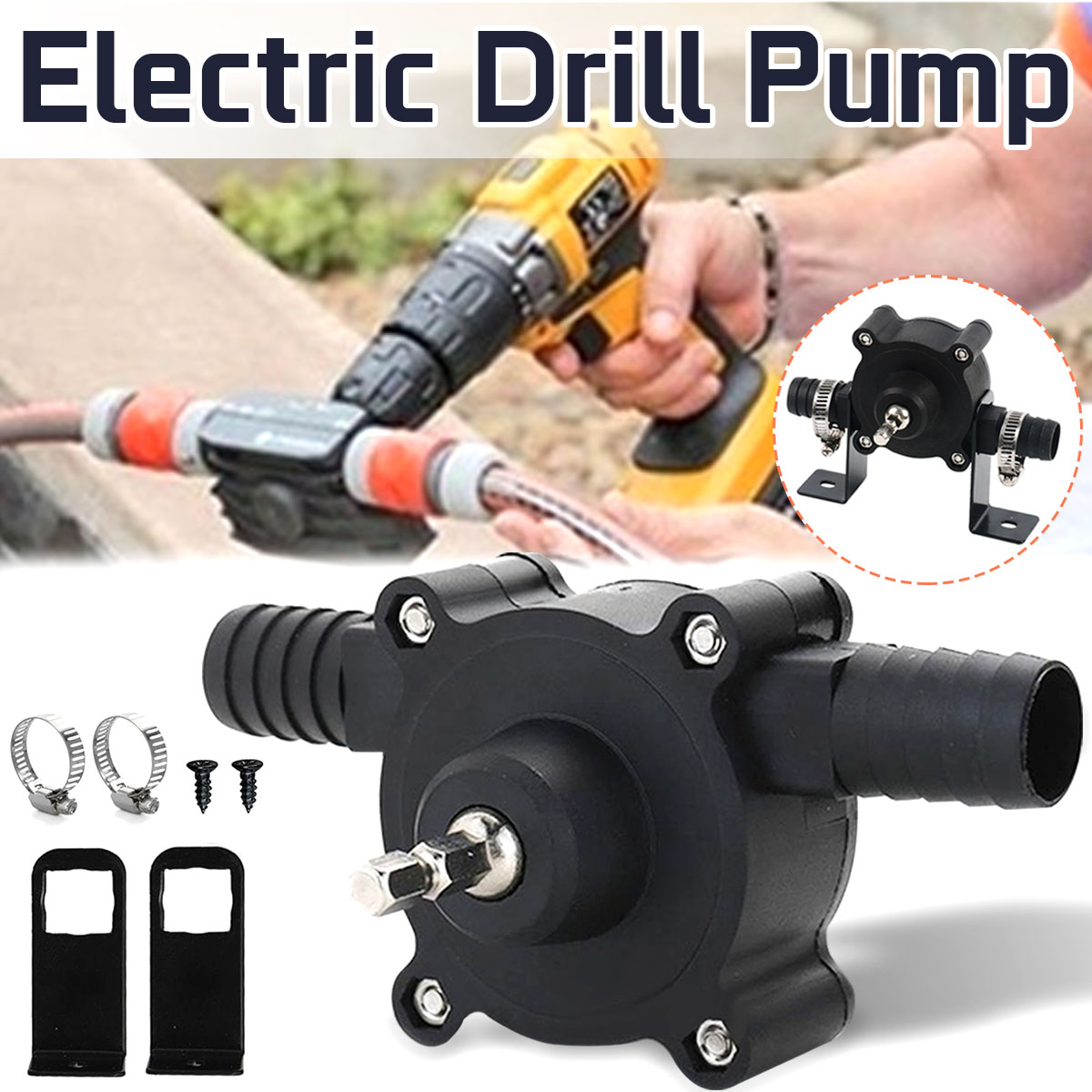 Electric Drill Pump Self Priming Transfer Pumps Oil Fluid Water Pump Cordless Electric Screwdrive Self priming Pump tools image
