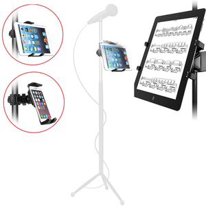 Image 3 - Microphone Stand Cell Phone Holder Microphone Mount Small Stand 360° Car Back Seat Telephone Phone Holder Mic Stand Bracket