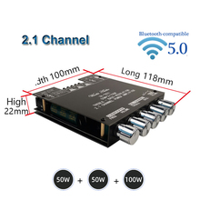 2*50W+100W TPA3116D2 Power Subwoofer Amplifier Board Bluetooth-compatible 2.1 Channel Class D TPA3116 Audio Stereo Equalizer Amp