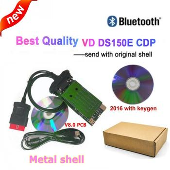 2020 OBD2 Diagnostic with shell 2016.r0 keygen for delphis With Bluetooth vd ds150e cdp Pro Plus New Vci scanner Multi Language цена 2017