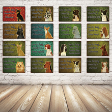 [ Kelly66 ] Love Is Being Owned By A Dog Chihuahua Pug Metal Sign Tin Poster Home Decor Bar Wall Art Painting 20*30 CM Size Dy48