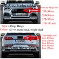 4 кольца ABS серебристый черный Автомобильный капот Передняя крышка гриль задний багажник эмблема логотип значок наклейка для автомобильных...