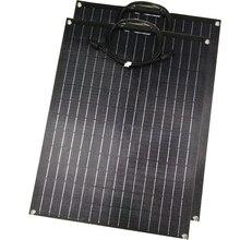 1 個 2 個 etfe 柔軟なソーラーパネル 60 ワットパネルソーラー 12 12v ソーラー充電器 etfe 表面コーティングセミフレキシブルな太陽電池パネル