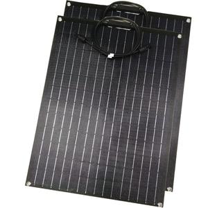 Image 1 - 1 sztuk 2 sztuk ETFE elastyczny panel słoneczny 60w panel słoneczny 12v ładowarka solarna z etfe powłoka zabezpieczająca pół elastyczne panele słoneczne