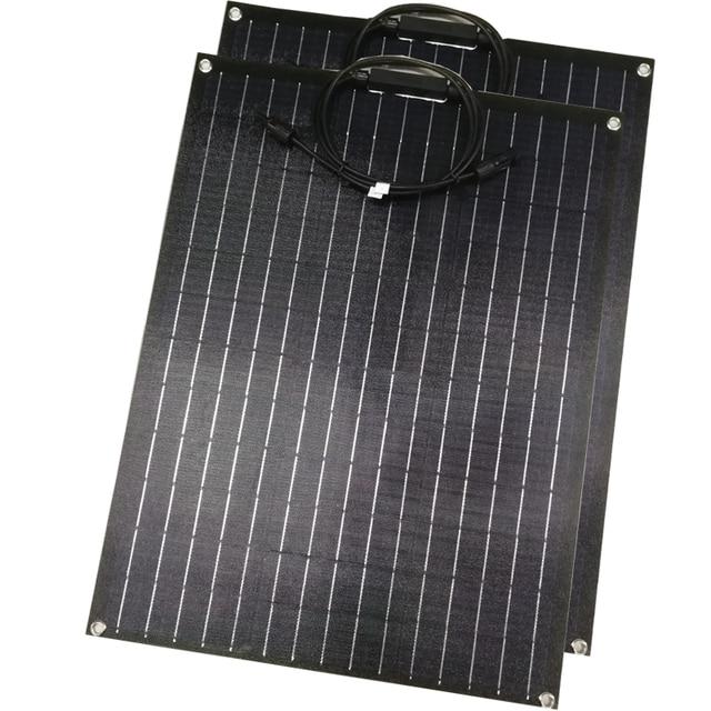 1 sztuk 2 sztuk ETFE elastyczny panel słoneczny 60w panel słoneczny 12v ładowarka solarna z etfe powłoka zabezpieczająca pół elastyczne panele słoneczne