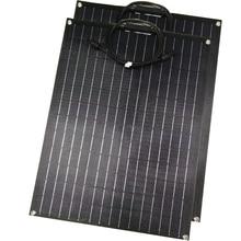 1pcs 2pcs ETFE גמיש פנל סולארי 60w פנל סולארי 12v מטען סולארי עם etfe משטח ציפוי חצי גמיש שמש פנלים