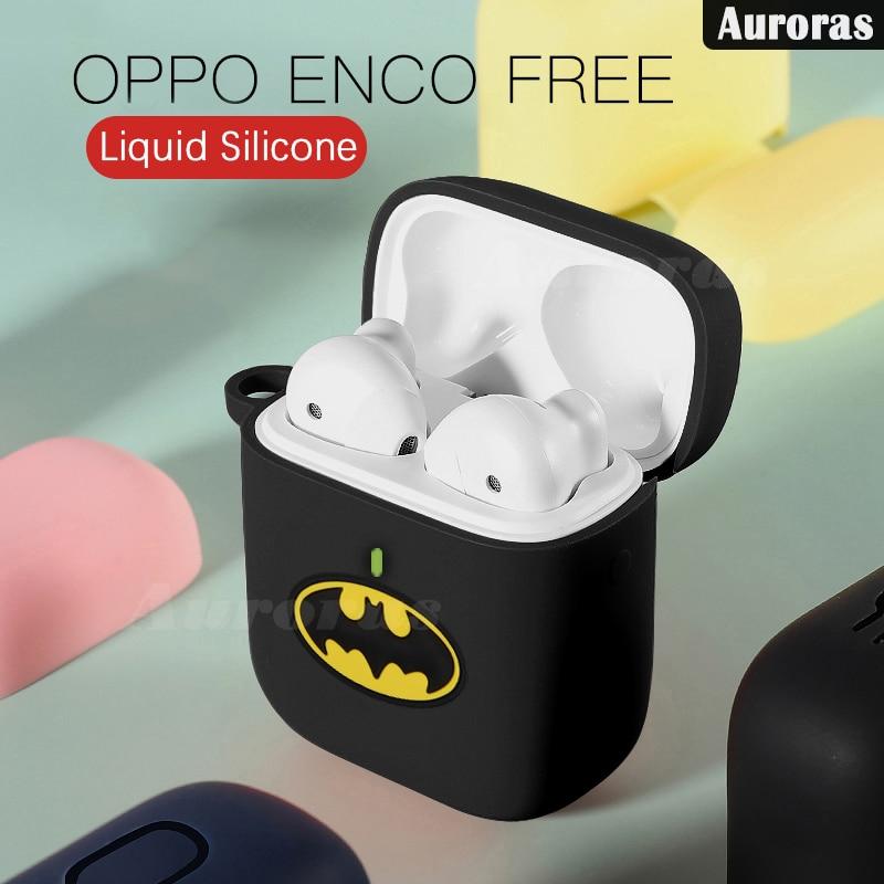 Auroras For OPPO Enco Free Case Cartoon Design Batman Captain America Full Cover Shockproof Protector For Enco Free Cover