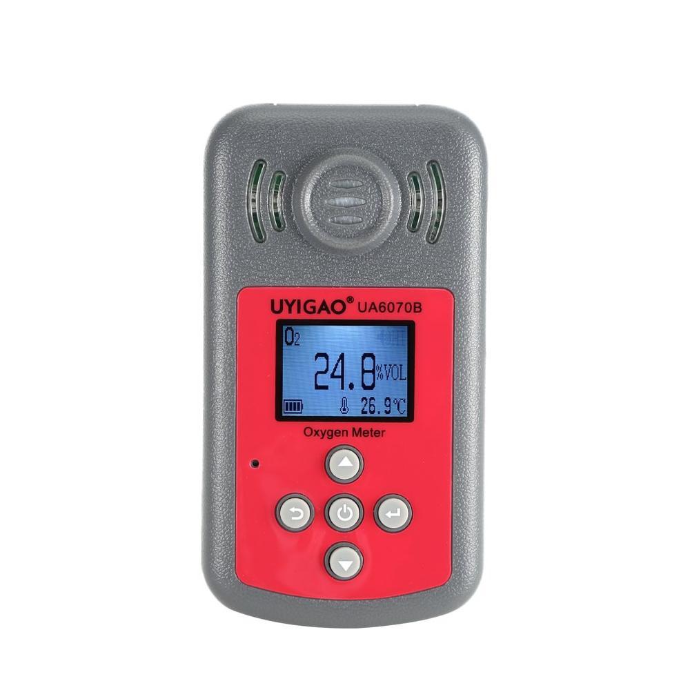UYIGAO détecteur d'oxygène numérique O2 testeur de gaz analyseur moniteur outil de mesure moniteur de qualité de l'air UA6070B compteur d'oxygène