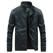 2020 New Men's Leather Jacket Pilot Fashion Punk Pu Leather Spring and Autumn Ca