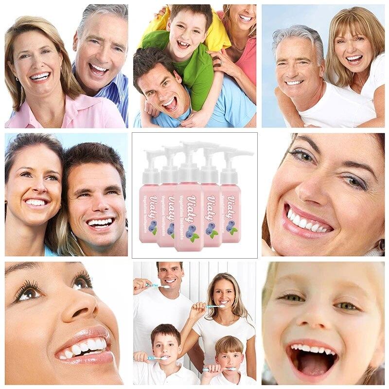 viaty creme dental remocao da mancha branqueamento creme dental luta sangramento gengivas dentes branqueamento 30ml j9