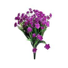 Artificial & secado flores 2 pces falso flores ao ar livre uv resistente plantas falso plástico-vegetação flores decorativas flor falsa