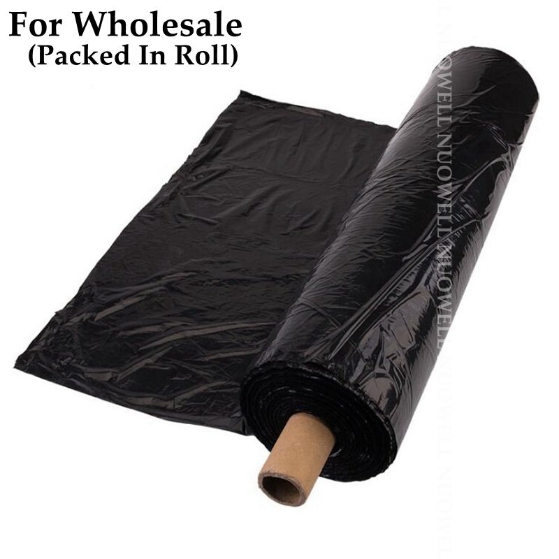 Wholesale 420m²/Roll Agriculture Black Film Strawberry Vegetable Plant Mulching Film Garden Mulch Film Weed Control Keep Warm