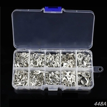 цена на 320Pcs/box Metal Terminals Non-Insulated Ring Fork U-type Brass Terminals Kit 448A