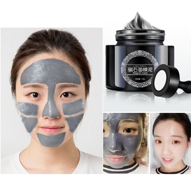 5 Minutes Mineral Rich Magnetic Face Mask Pore Cleansing Removes Skin Impurities Mask Seaweed Mask+ Spatula + Magnet