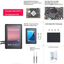 Freundliche RK3399V2 entwicklung kit mit HDMI eingang MIPI fernglas gesicht anerkennung 4G interface dual frequenz WiFi