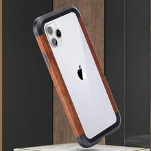 Алюминиевый металлический деревянный бампер чехол для iPhone 11 Pro Max XS Max XR X чехол-накладка Железный человек защитный чехол для телефона