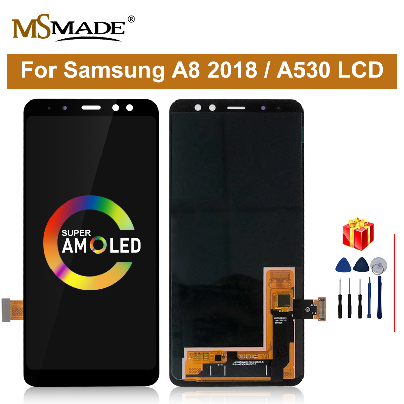 Super AMOLED For Samsung Galaxy A8 2018 A530 LCD Touch <font><b>Screen</b></font> Digitizer Assembly <font><b>A530f</b></font> A530N Display <font><b>Screen</b></font> <font><b>Replacement</b></font> Parts image