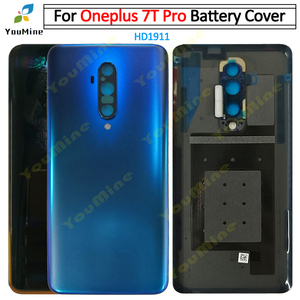 Image 3 - Original For OnePlus 7 Pro Back Battery Cover Door Rear Glass For Oneplus 7t pro Battery Cover Housing Case with Camera Lens