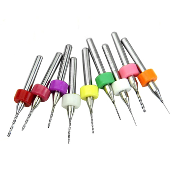 цена на 10 Pcs 0.3mm To 1.2 Mm Import Carbide PCB Drill Bits, Print Circuit Board Mini CNC Drilling Bit Set, Woodworking Tools