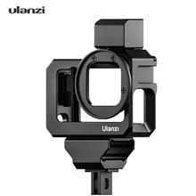 Ulanzi G9-5 ação vlog câmera gaiola de metal habitação protetora com dupla sapata fria montagem 52mm filtro adaptador para gopro hero 9