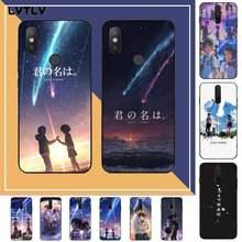 LVTLV japoński Anime twoje imię Kimi no Na wa kolorowe etui Na telefon obudowa dla RedMi note 9 4 5 6 7 5a 8 9 pro max 4X 5A 8T