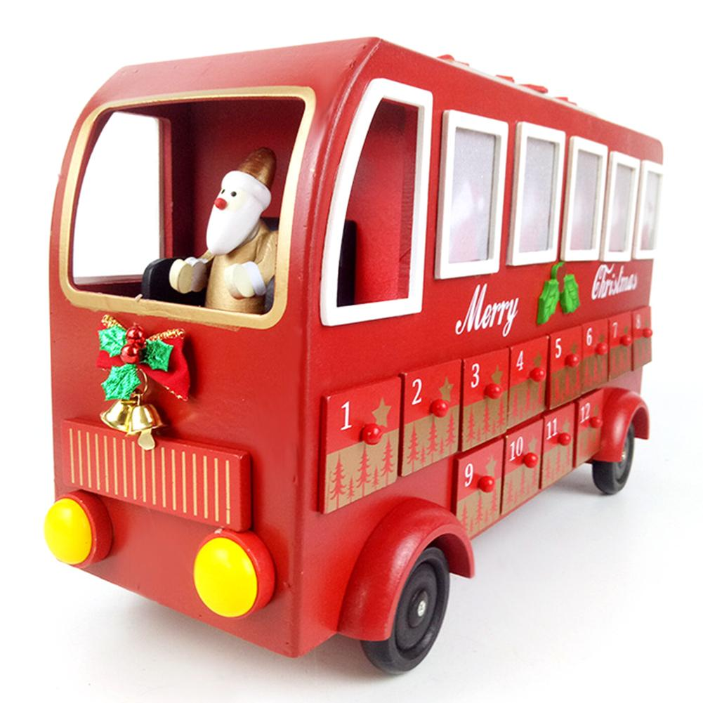 New Christmas Bus Shaped Advent Calendar Ornaments 2021 New Year Countdown Calendar Drawers Christmas Decorations For Home