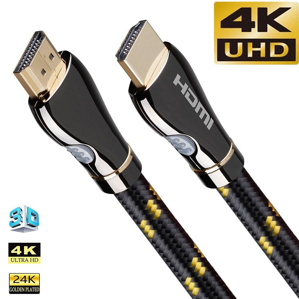 Кабель HDMI совместимый с HD на HDMI 4K 60 Гц, кабель аудио видео 1080P для Xiaomi Mi Box Samsung LG TCL TV UHD FHD 3D XBOX PS5 PS4 15 м
