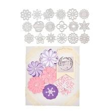 DiyArts 18pcs/lot Flower Metal Cutting Dies Craft Stencil Templates Diy Handmade Scrapbooking Paper Card Decor DieCut Knife Mold