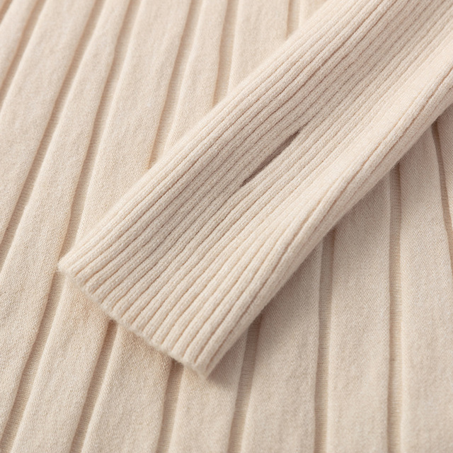 Long Knit Maxi Sweater Dress  A Line Ribbed  Pullover 5