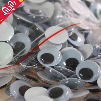 100Pcs DIY Toys Plastic Googly Wiggly Moveable Black Joggle Eyes Self-adhesive Dolls Eye For Toys Dolls Googly Black Eyes Used