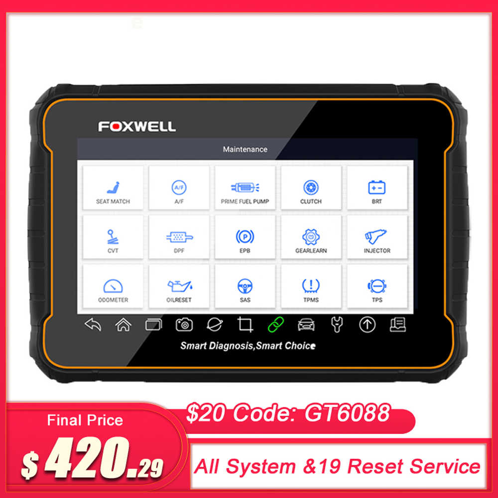 Foxwell GT60 OBD2 Professionele Auto Diagnostische Scan Tool Volledige System Code Reader 19 Reset Functies ODB2 Obd 2 Automotive Scanner