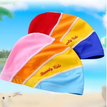 Beverly kids lycra czepki dla dzieci nastolatek uczeń czepki kąpielowe długie włosy czepek kąpielowy darmowa wysyłka tanie i dobre opinie 46 48 52 Pure color pływanie cap NYLON